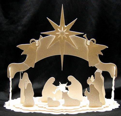 Silhouette Nativity Scene Pattern Beautiful Nativity 500×480 Papercraft Pinterest