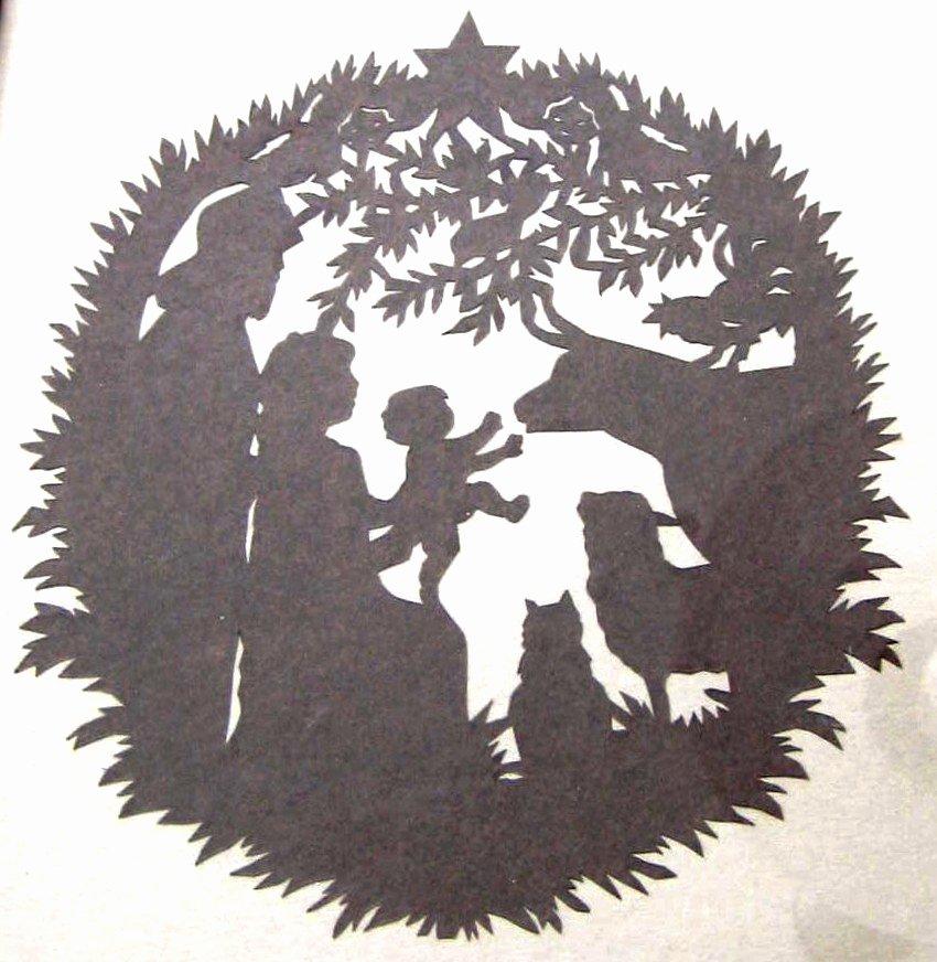 Silhouette Nativity Scene Pattern Best Of Inkspired Musings Scherensnitte Paper Cuttings Tutorial