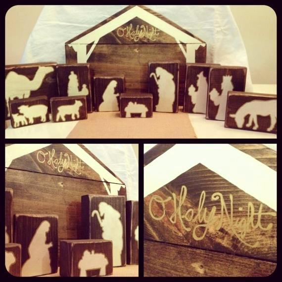 Silhouette Nativity Scene Pattern Best Of Wooden Nativity Block Silhouette Pattern
