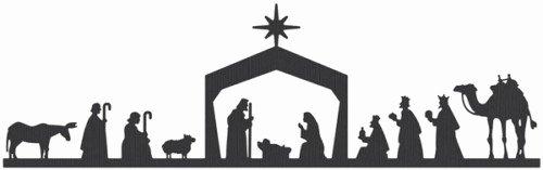 Silhouette Nativity Scene Pattern Lovely Koinonia Dallas Emmaus Munity Newsletter
