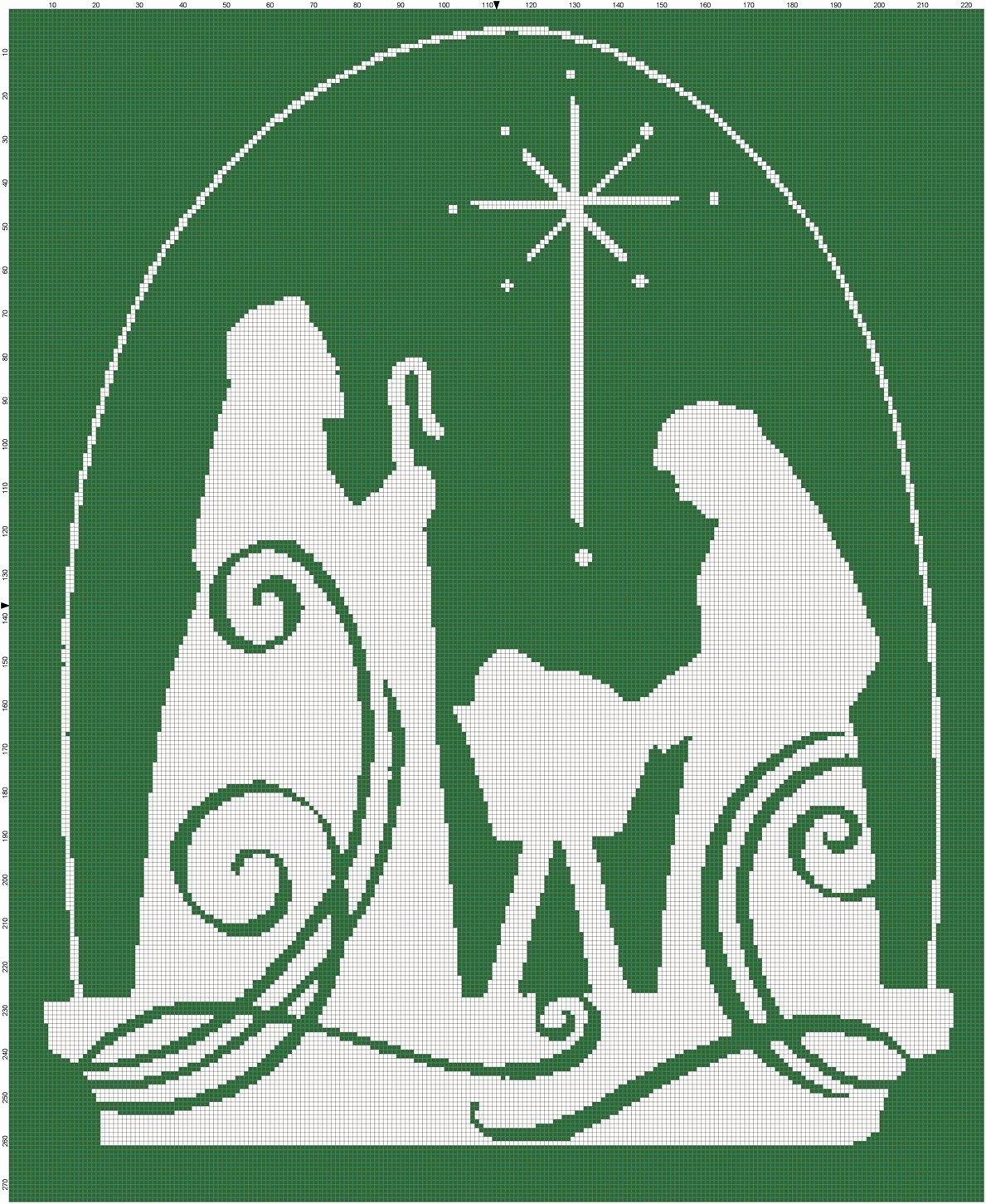Silhouette Nativity Scene Pattern Unique Christmas Jesus Nativity Scene Cross Stitch Pattern