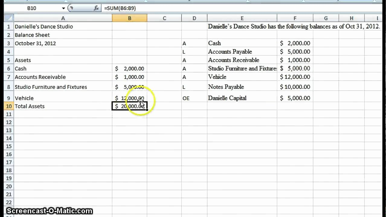 Simple Balance Sheet Template Excel Beautiful Create A Simple Balance Sheet