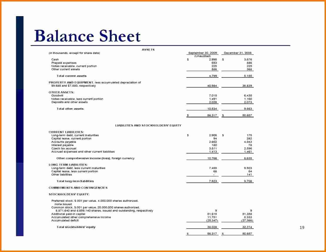 Simple Balance Sheet Template Excel Beautiful Simple Balance Sheet Template