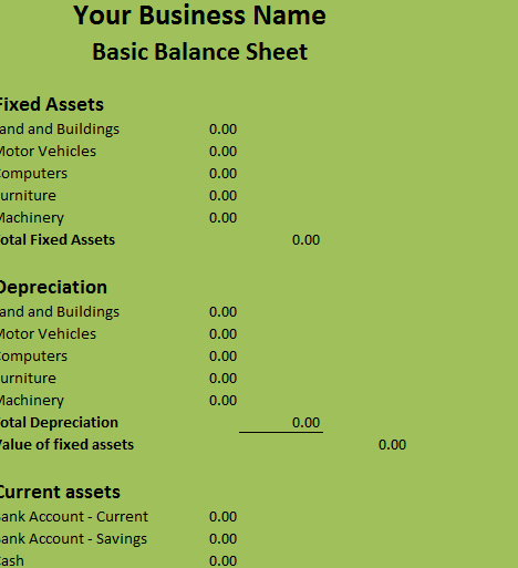 Simple Balance Sheet Template Excel Best Of Basic Balance Sheet My Excel Templates