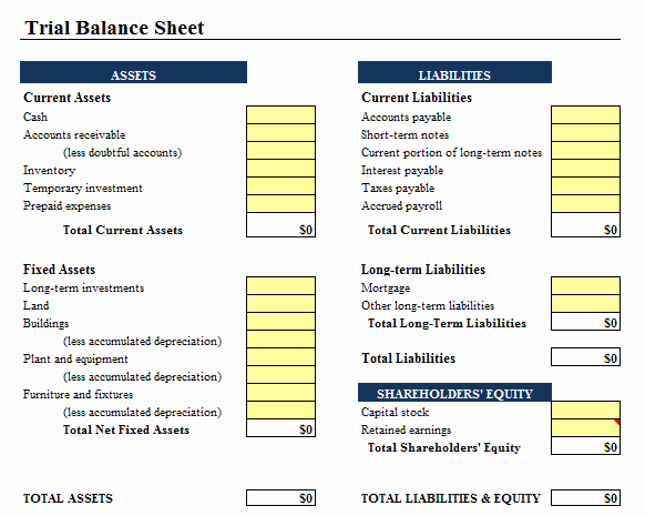 Simple Balance Sheet Template Excel Elegant 9 Balance Sheet formats In Excel Excel Templates