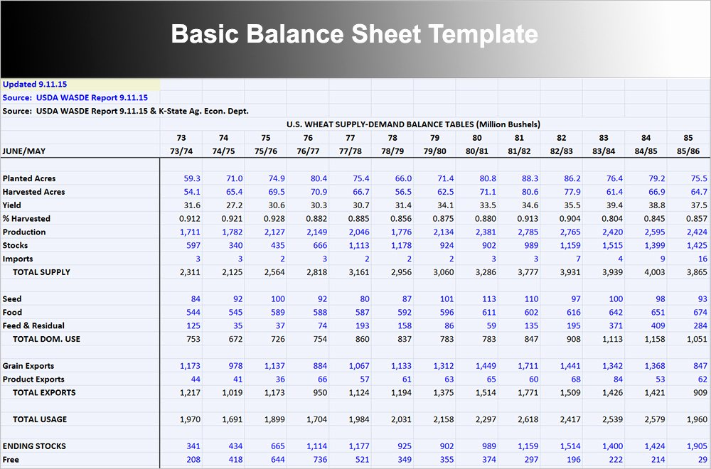 Simple Balance Sheet Template Excel Lovely 10 Balance Sheet Template Free Word Excel Pdf formats
