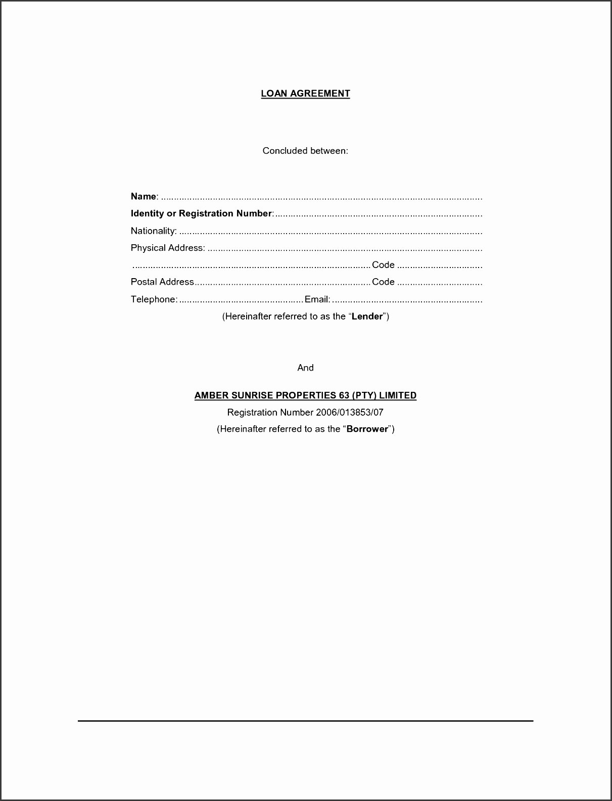 Simple Loan Application form Template Best Of 11 Vehicle Loan Agreement Template Sampletemplatess