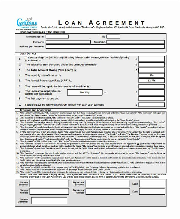 Simple Loan Application form Template Best Of 20 Loan Agreement form Templates Word Pdf Pages