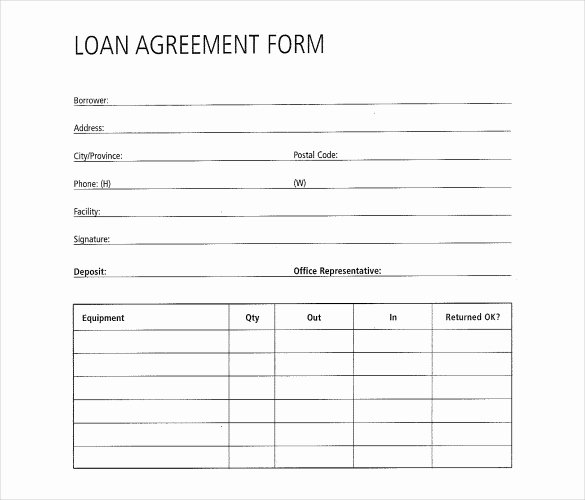 Simple Loan Application form Template Best Of 30 Loan Contract Templates – Pages Word Docs