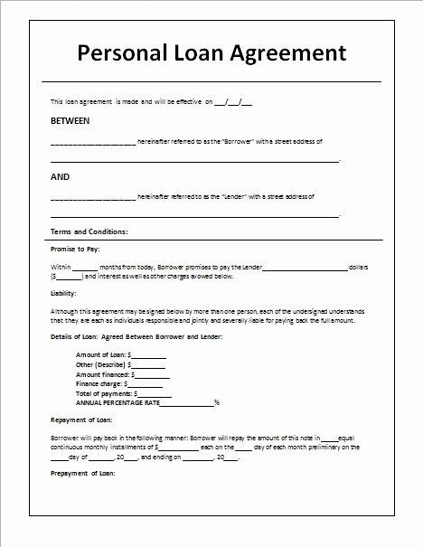 Simple Loan Application form Template Fresh Loan Contract Template Beepmunk