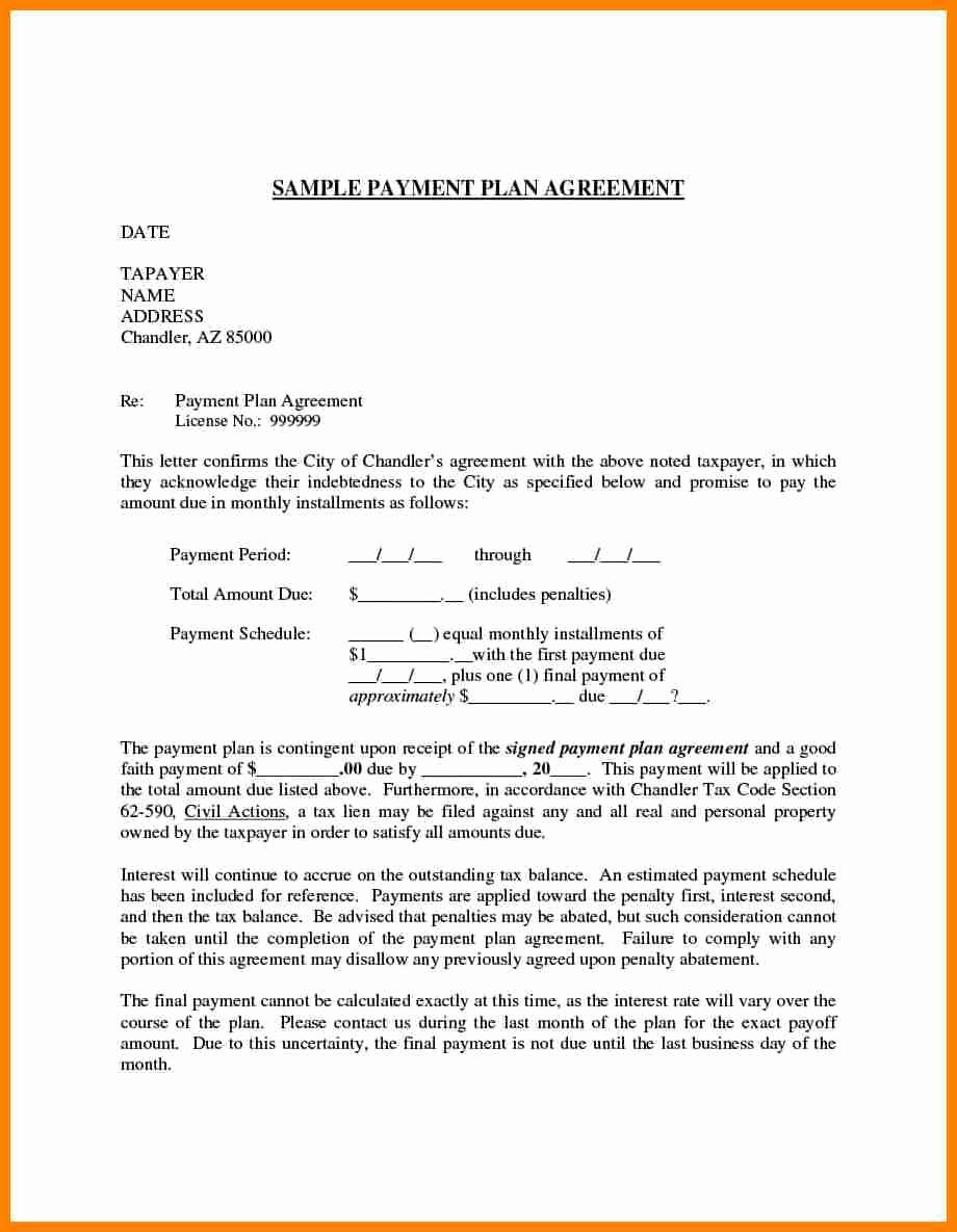 Simple Payment Agreement Template Beautiful 5 Simple Payment Plan Agreement Template