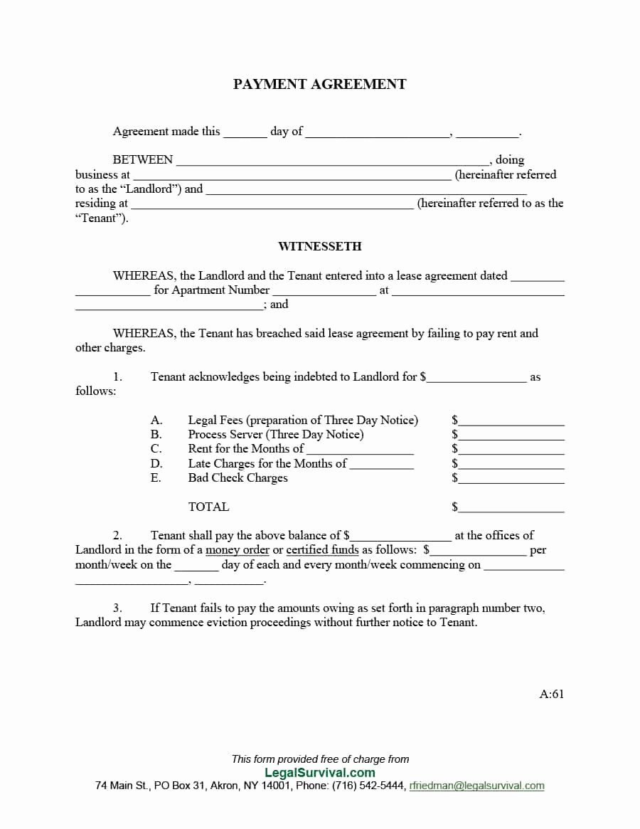 Simple Payment Agreement Template Best Of Payment Agreement 40 Templates & Contracts Template Lab