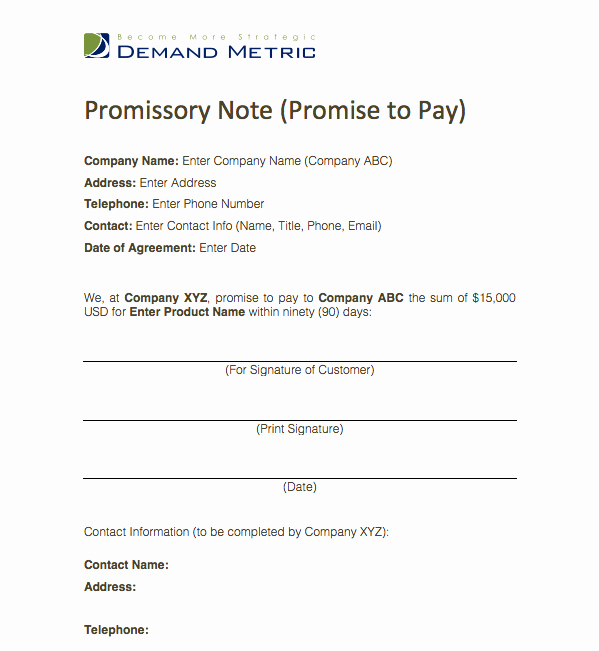 Simple Payment Agreement Template Best Of Pin by Demand Metric On Demand tools