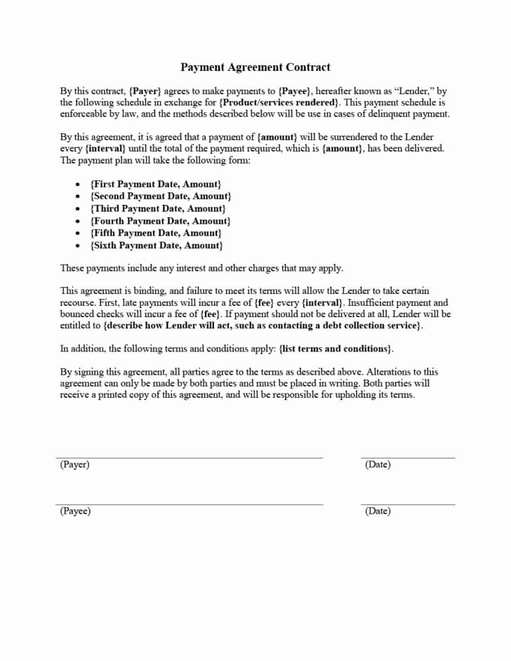 Simple Payment Agreement Template Between Two Parties Inspirational Legal Agreements Between Two Parties