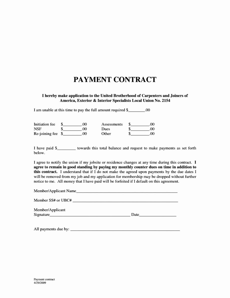Simple Payment Agreement Template Elegant Payment Agreement Between Two Parties and Simple Loan with