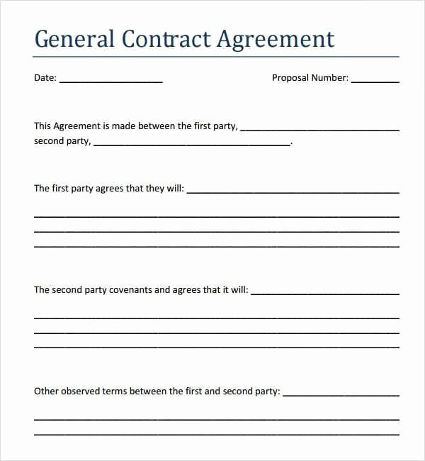 Simple Payment Agreement Template Inspirational 5 Contract Agreement Between Two Parties Samples Free