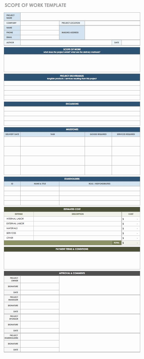 Simple Statement Of Work Template Best Of Free Statement Of Work Templates Smartsheet