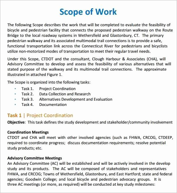 Simple Statement Of Work Template Inspirational 7 Construction Scope Of Work Templates Word Excel Pdf