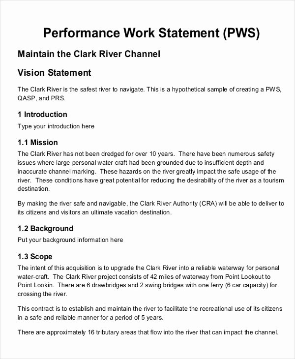 Simple Statement Of Work Template Unique 10 Work Statement Examples Word Pdf