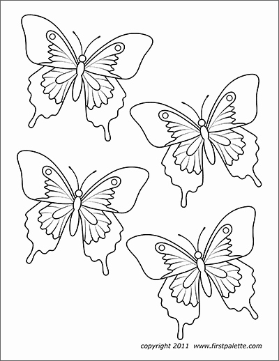 Small butterfly Template Awesome butterflies