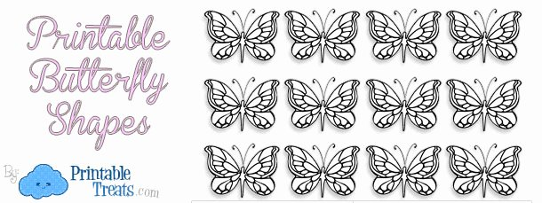 Small butterfly Template Awesome Printable butterfly Shapes — Printable Treats
