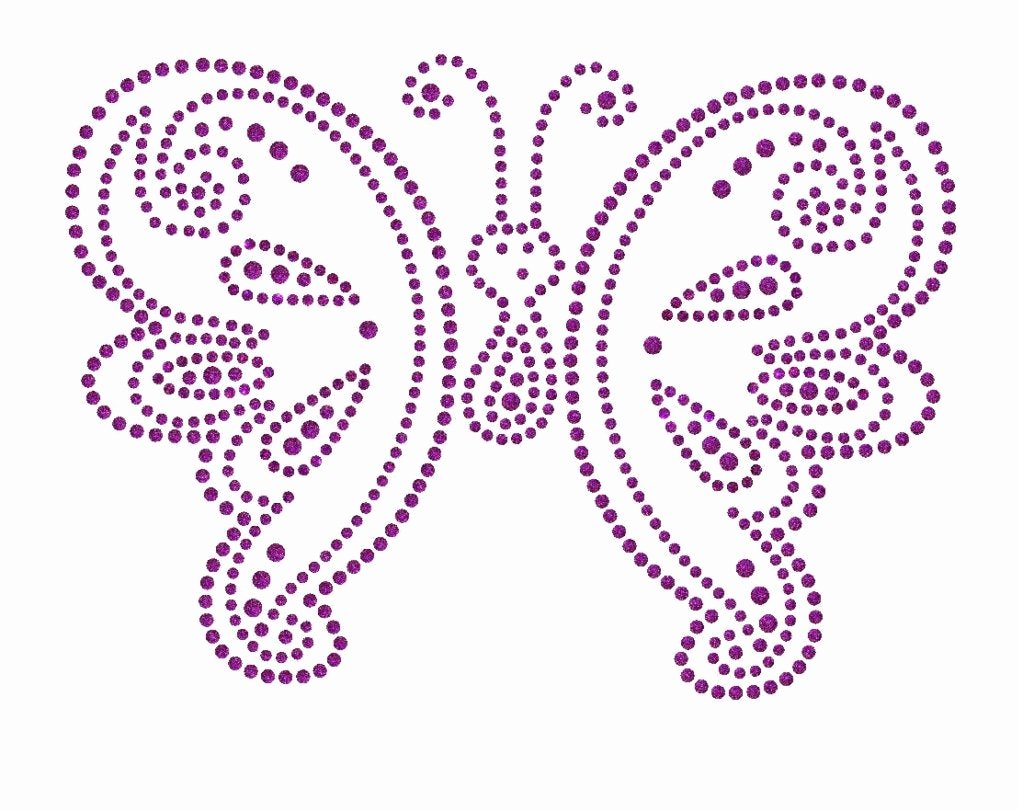 Small butterfly Template Luxury butterfly Rhinestone Pattern Transter Instant Download