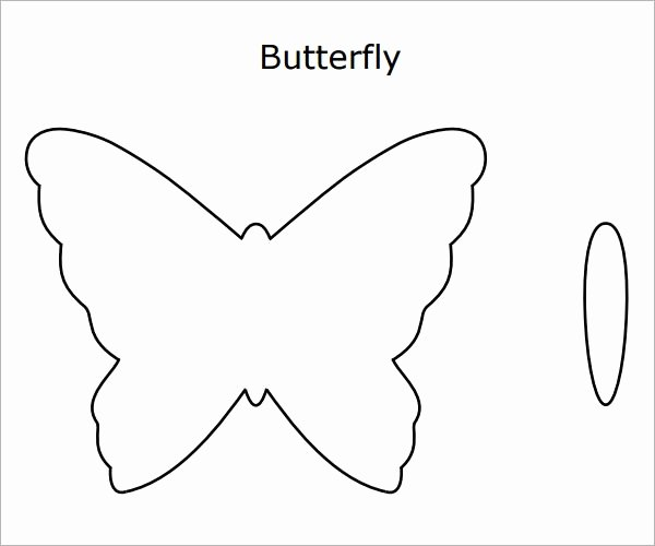 Small butterfly Template New 10 butterfly Samples Pdf