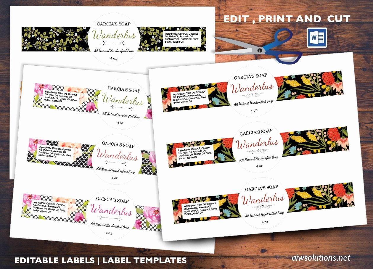 Soap Template Word Awesome Cigar Style Label Sticker Id04 Stationery Templates