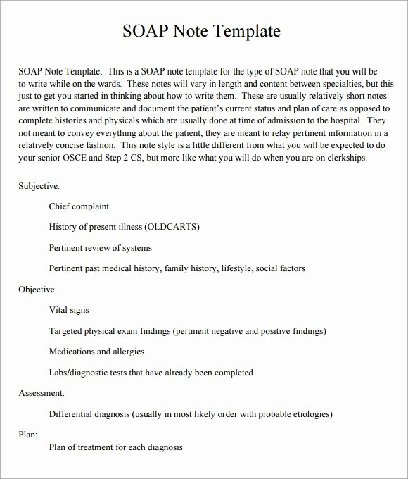 Soap Template Word Awesome soap Note Template 10 Download Free Documents In Pdf Word
