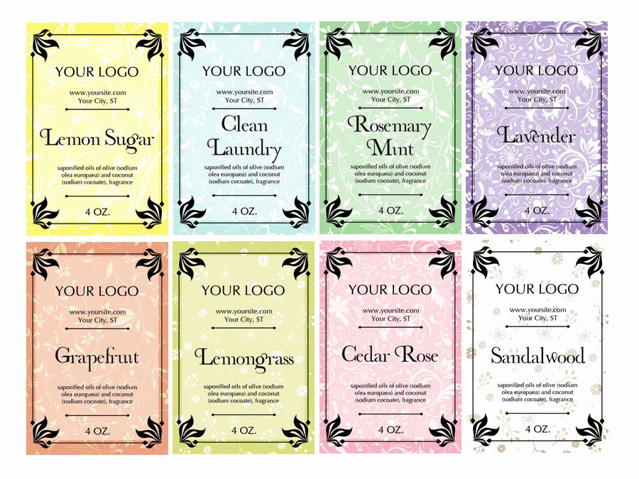 Soap Template Word Inspirational soap Label Maker