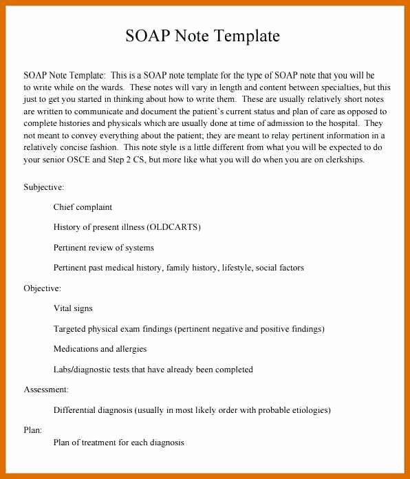 Soap Template Word Unique 10 11 soap Note Template Word