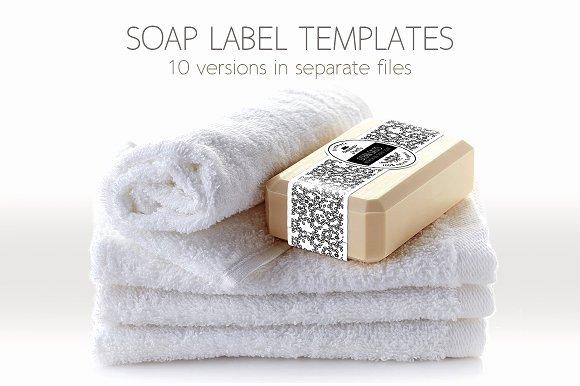 Soap Template Word Unique soap Label Packaging Template Templates Creative Market