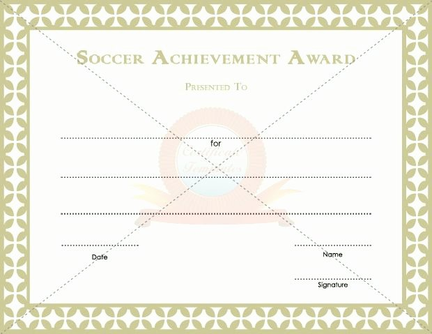Soccer Awards Template Awesome 11 Best soccer Achievement Award Templates Images On
