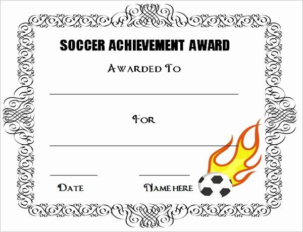 Soccer Awards Template Awesome Editable soccer Award Certificate Templates Free