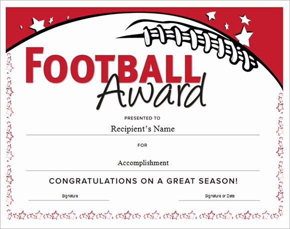 Soccer Awards Template Awesome Football Certificate Template 16 Download Documents In