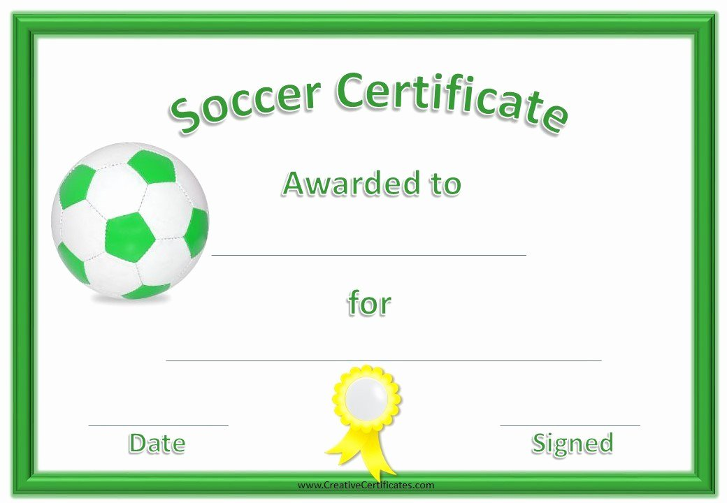 Soccer Awards Template Best Of 13 Free Sample soccer Certificate Templates Printable