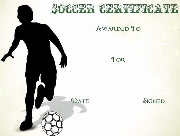 Soccer Awards Template Elegant 30 soccer Award Certificate Templates Free to Download