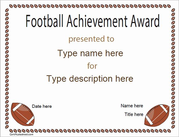 Soccer Awards Template Elegant Football Certificate Template 16 Download Documents In