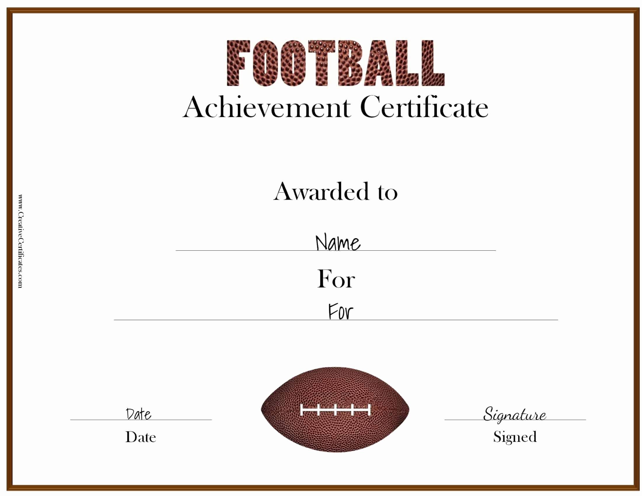 Soccer Awards Template Elegant Free Custom Football Certificates