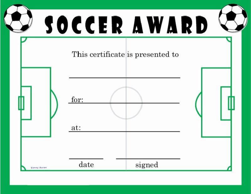 Soccer Awards Template Fresh soccer Award Certificates