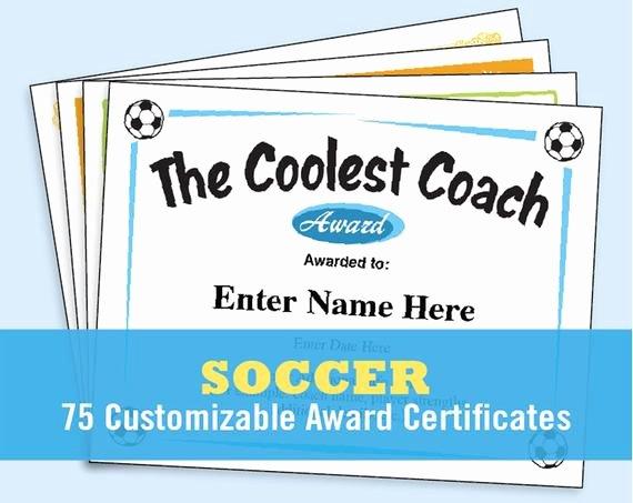 Soccer Awards Template Fresh soccer Certificates soccer Awards Templates Child