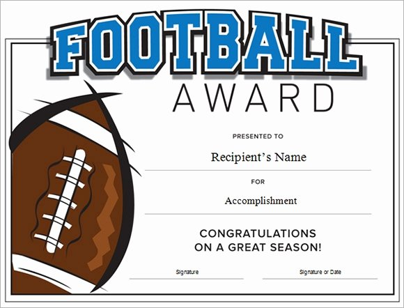 Soccer Awards Template Inspirational Football Certificate Template 16 Download Documents In