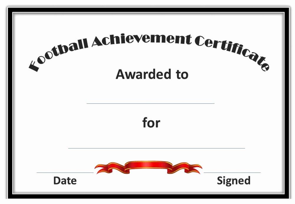 Soccer Awards Template Inspirational soccer Award Certificates