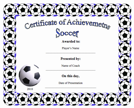 Soccer Awards Template Lovely Certificate Templates Archives Word Templates