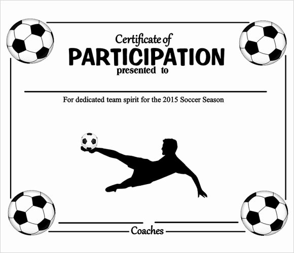 Soccer Awards Template Luxury 25 Sample Participation Certificate Psd Pdf Word Ai