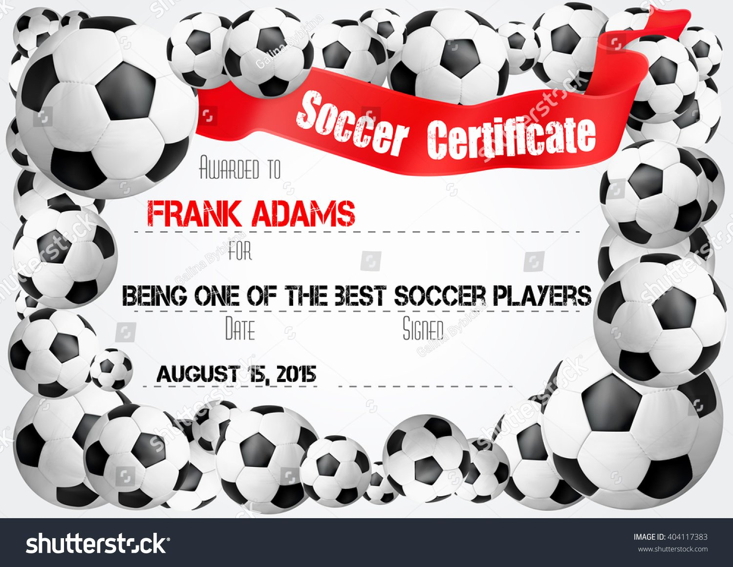 Soccer Awards Template Luxury soccer Certificate Template Football Ball Icons เวกเตอร์