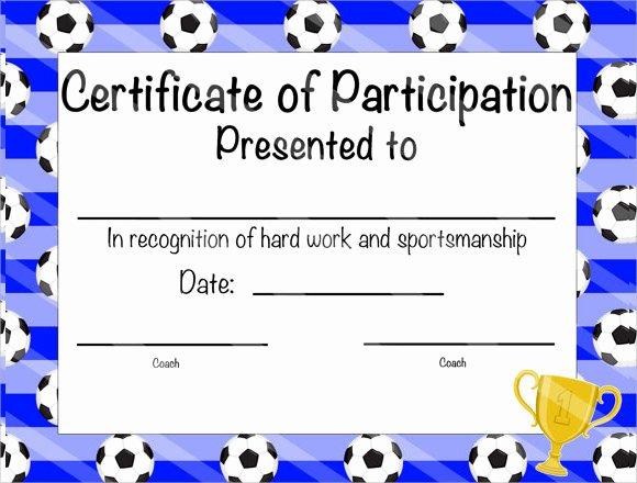 Soccer Awards Template Unique 25 Sample Participation Certificate Psd Pdf Word Ai