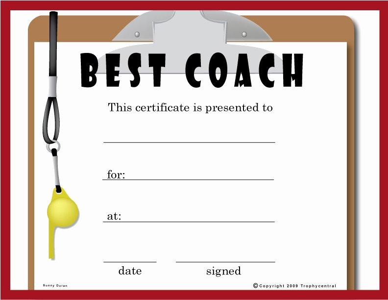 Soccer Awards Template Unique Free Coach Certificates Certificate Free Coach