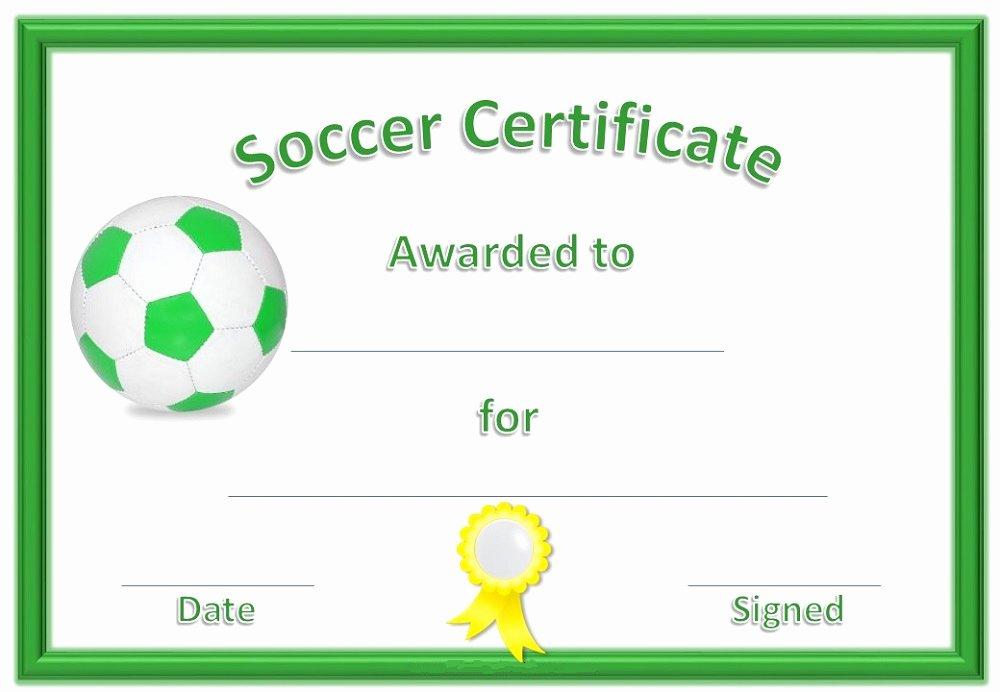 Soccer Awards Template Unique soccer Certificate Templates