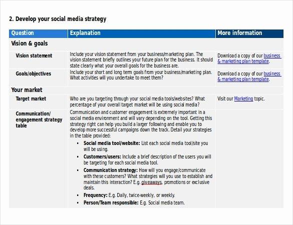 Social Media Marketing Proposal Pdf Awesome 15 social Media Strategy Templates Free Pdf Word